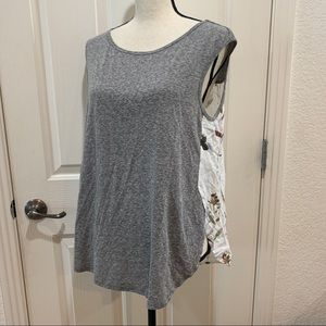 Anthropologie Top NWT t.la Tee Petite Medium Grey
